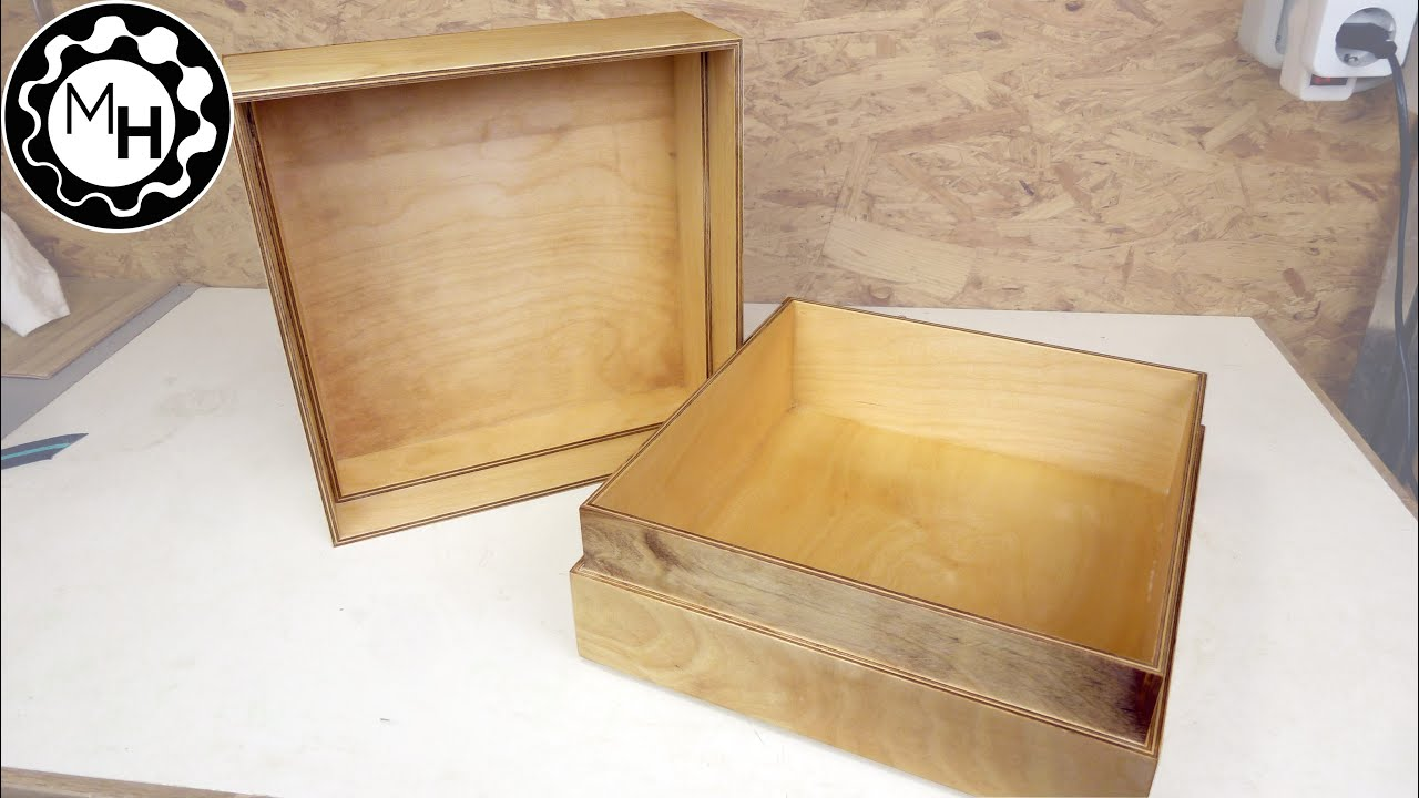 How To Make A Simple Wooden Box Youtube