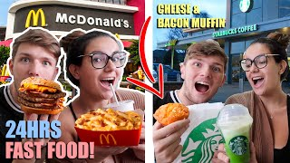 EATING BRAZILIAN FAST FOOD FOR 24 HOURS!!