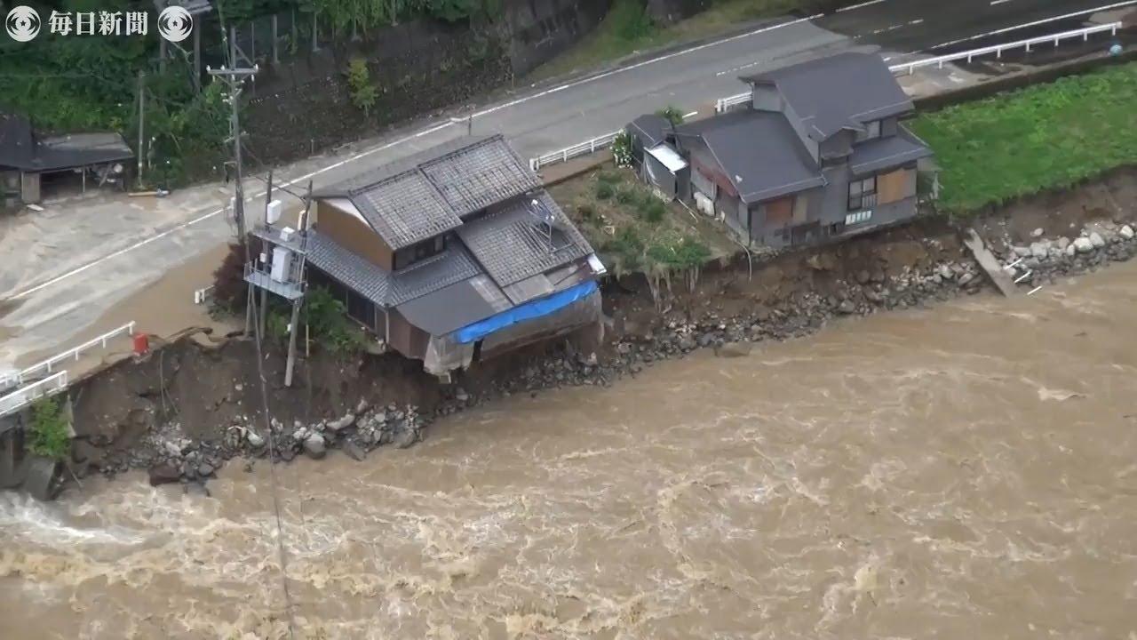 岐阜で大雨 飛驒川氾濫 東海地方に拡大