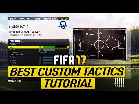 FIFA 17 BEST CUSTOM TACTIC TUTORIAL - BEST ATTACK & BEST DEFENSE - TIPS & TRICKS