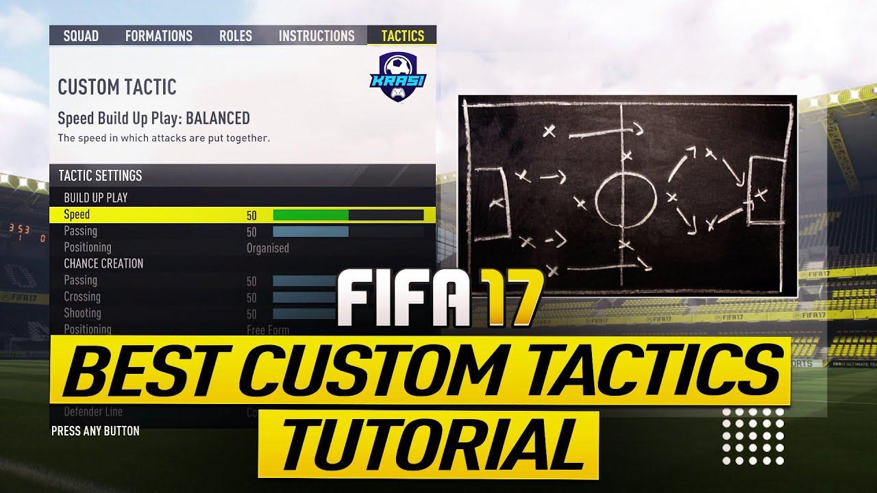 fifa 17 custom tactics