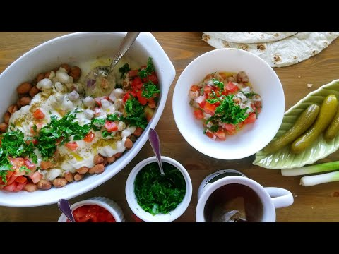 Foul Medames Syrian Style Tahini Fava beans