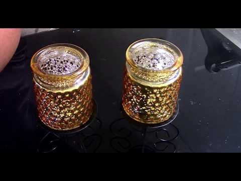 Dollar Tree DIY Black & Gold GLAM Candle Holders