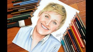 Drawing Ellen Degeneres.....