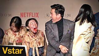 케이크 커팅식에 난입한 좀비들(Feat. 류승룡) @ '킹덤' 제작발표회(Netflix Kingdom)