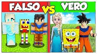 RIESCI A TROVARE IL FALSO CARTONE ANIMATO? - Minecraft ITA