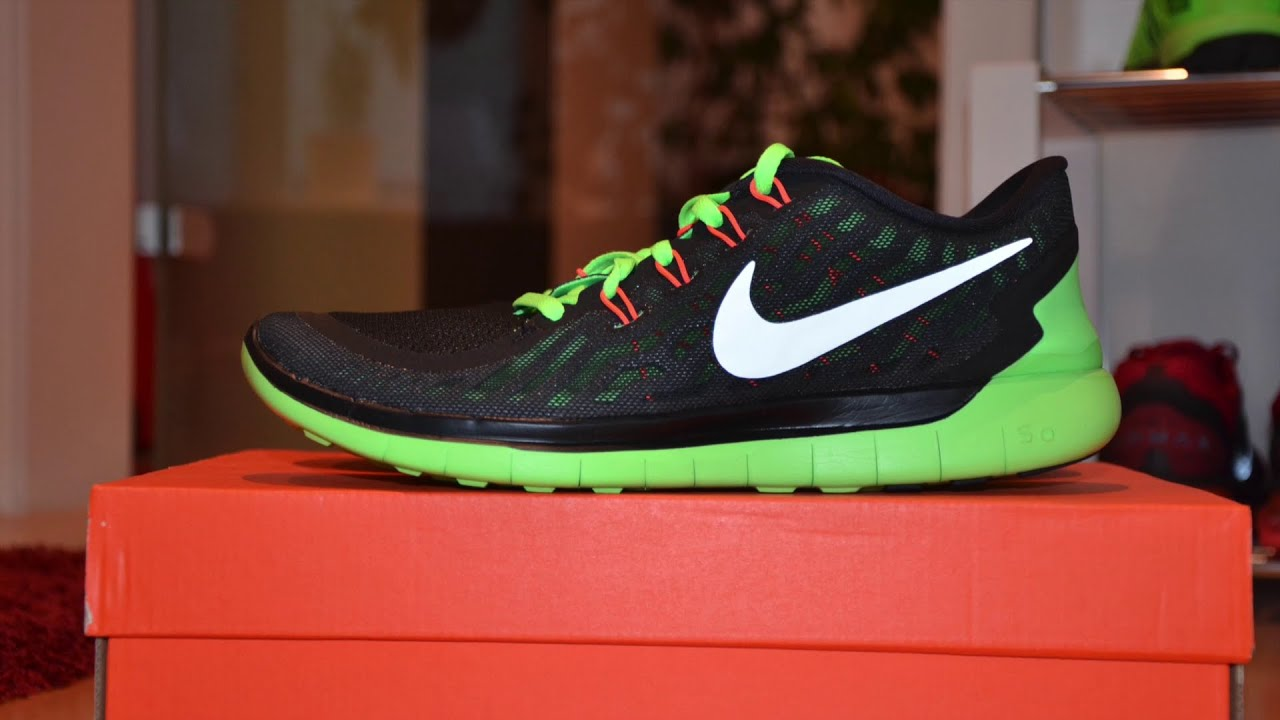 brand new 3f8de 362c1 Nike - Free 5.0 - Black Green - (2016) - Unboxing - MusicVersion