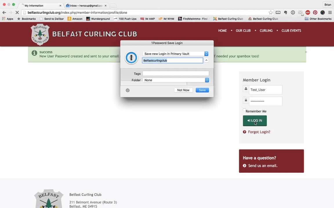 Belfast Curling Club - Website Information