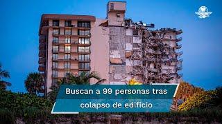 Rescatistas buscan a  99 personas, muchas de ellas extranjeras, que se cree quedaron atrapadas bajo los escombros de un edificio;  oficialmente, se reporta un muerto
