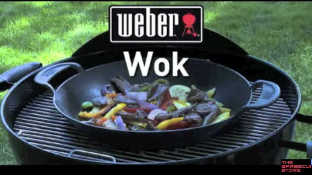 wok gourmet bbq system barbacoas weber youtube. Black Bedroom Furniture Sets. Home Design Ideas