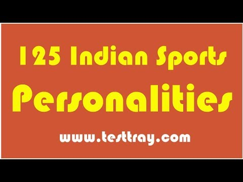 GK Questions : Famous Sports Personalities of India (TestTray)