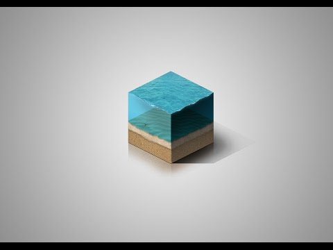 [Photoshop] Isometric Undersea Cube Tutorial