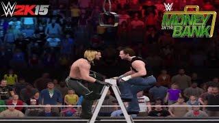 WWE 2K15 Money in the Bank 2015 Dean Ambrose vs Seth Rollins Ladder Match WWE Championship