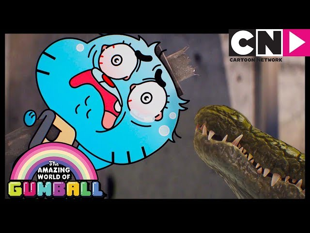 Gumball | Gumball Fights a Shapeshifting Crocodile | Cartoon Network
