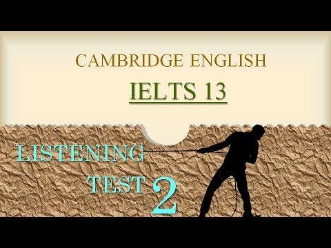 IELTS Listening Cambridge 13- Test 2|IELTS listening test with answers