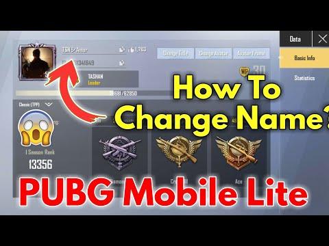How To Change Name In PUBG Mobile Lite? Purchase ID Card/Rename Card In PUBG Mobile Lite.