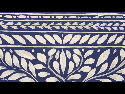 Bone inlay design painted with Annie Sloan Detail Brushes
