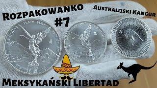 Rozpakowanko #7- srebrny meksykański Libertad oraz Kangur australijski