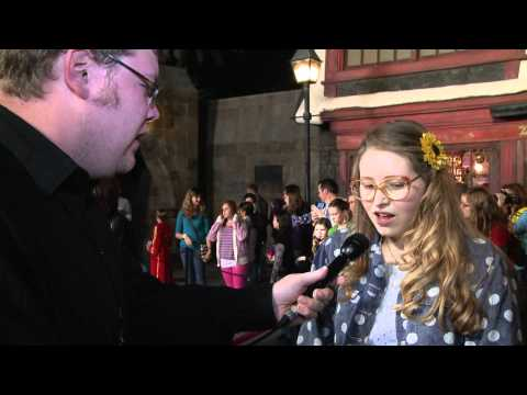 An awkward  meets Jessie Cave Lavender from Harry Potter
