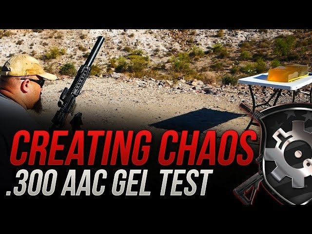 Creating Chaos? .300 AAC Gorilla 110gr Lehigh Controlled Chaos Gel Test