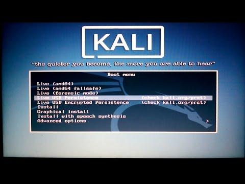 Setup & Install Kali Linux Rolling Live USB Persistence