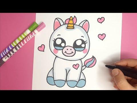 Wie Zeichnet Man Ein Niedliches Baby Einhorn - Kawaii Einhorn Malen