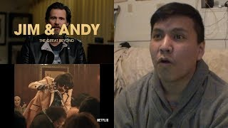 JIM & ANDY THE GREAT BEYOND | Official Trailer Reaction | Netflix