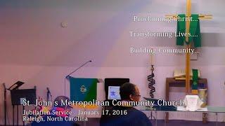 MLK Day of Service - Jubilation Service, January 17, 2016