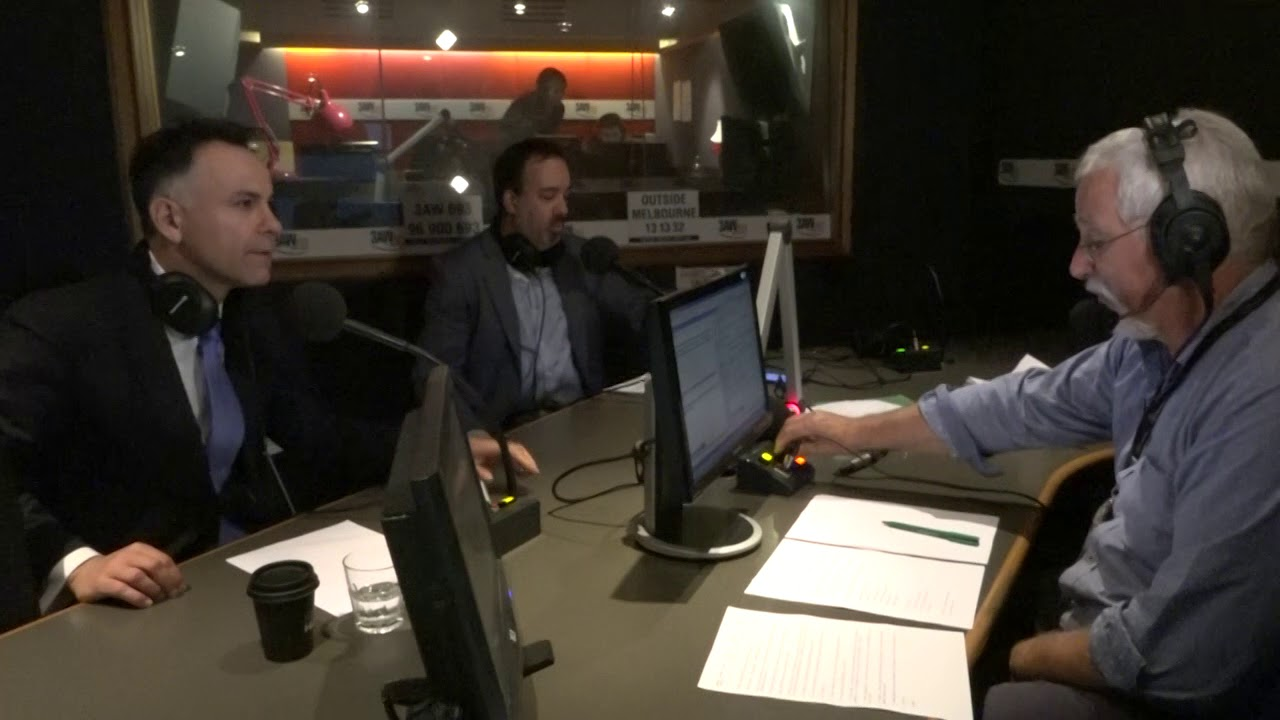 PART ONE: Attorney-General Martin Pakula and Shadow AG John Pesutto with  Neil Mitchell