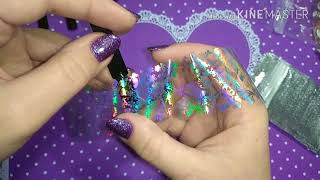 голографическая фольга для дизайна ногтей с Алиэкспресс
