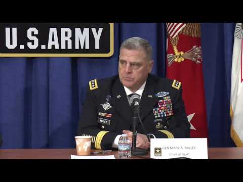 AUSA 2017 Press Conference: Gen. Mark A. Milley and Acting Army Secretary Ryan McCarthy