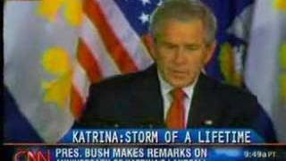 Transcript CNN anchor live bathroom malfunction Bush speech