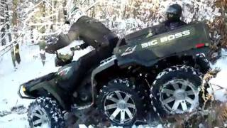 ATV snow downhill Polaris Serbia 4x4 ,6x6 QuadSquad