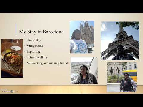 Geormani's Summer in Barcelona - Sharks Abroad Peer Advisor Presentation
