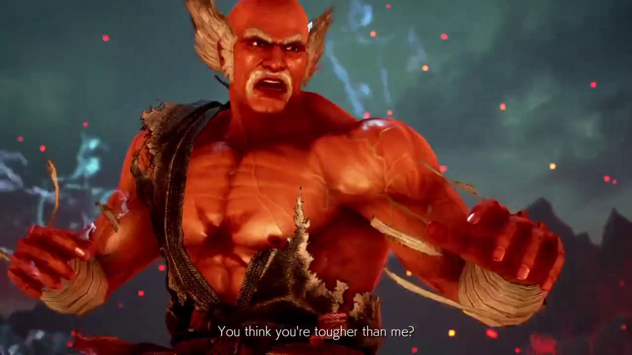 Tekken 7 Fighting Shin Akuma Powered Up Heihachi In Treasure Battle