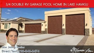 Lake Havasu Double RV Garage Pool Home