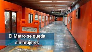 Paro 9 de marzo: Metro se queda sin mujeres