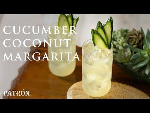Cucumber Coconut Margarita Recipe | Patrón Tequila