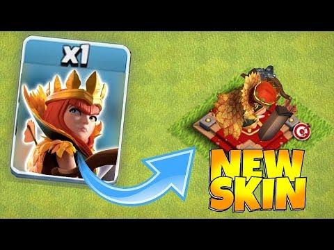 Clash Of Clans New Queen Skin! Buying Autumn Queen Skin!!
