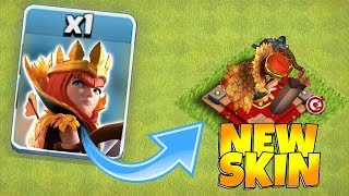 Clash of clans new queen skin! Buying Autumn queen skin!!
