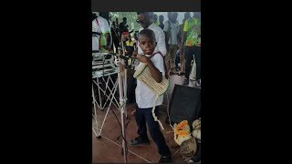 Muyiwa Ademola Show Off A 5 Year Old Boy That  Plays Talking Drum Better Than Any Master