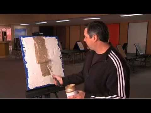 Faux painting techniques for walls, Metallic bronze plaster