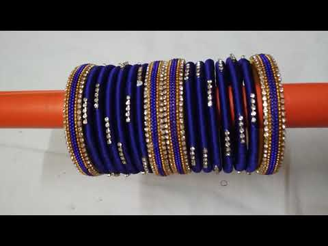 How to Make Silk Thread Bangles At Home # Smart Art And Crafts # DIY Bangles # Handmade Jewellery #