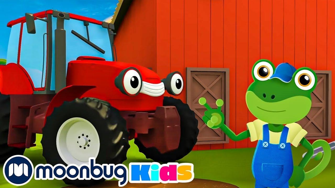 Gecko's Old MacDonald Had A Farm | Playground for Children | Baby Cartoon | Moonbug Kids
