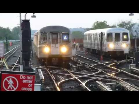 IND Rockaway Line: R68 A Train at Broad Channel (Evening)