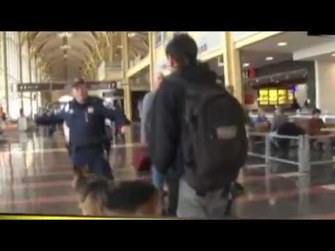 Adam Kokesh and Derrick Broze evade arrest at Reagan Airport #endthefedarkansas  #optout_(360p).flv