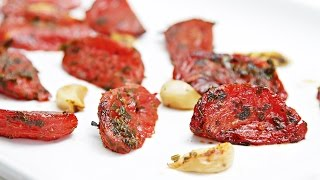 oven roasted tomatoes with garlic lemon thyme a simple recipe with endless possibilities