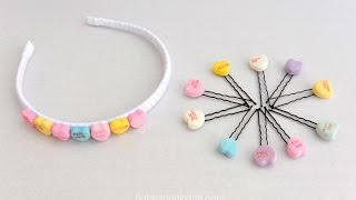 Diy Candy Heart Hair Accessories For Valentine's Day | Babesinhairland.com