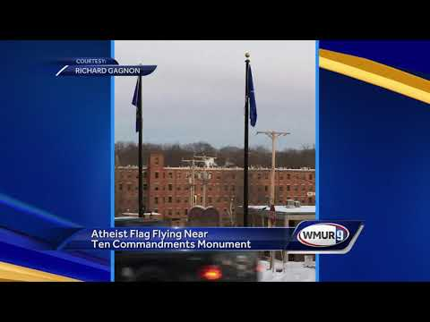 Atheist flag raised on Somersworth city property