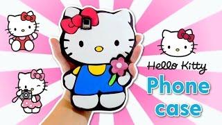 PHONE CASE DIY HELLO KITTY - EASY CRAFTS FOR CHILDREN